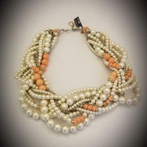 Banana Republic Jewelry - Banana Republic pearl and coral necklace